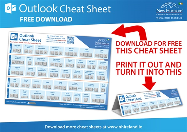 Outlook Keyboard Shortcut Cheat Sheet