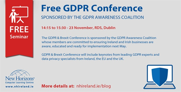 Free GDPR Conference - 23 November,  RDS, Dublin