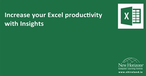 Increase your Excel productivity with insights