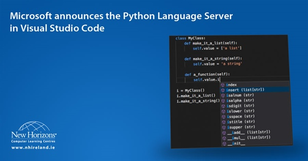 Microsoft announces the Python Language Server in Visual Studio Code